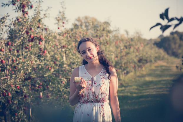 Apple Orchard Photo Session Girl