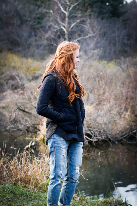 girl in the fall photography