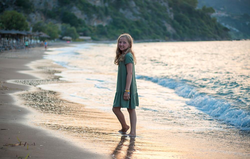 Mediterranean Sea, Girl on the beach