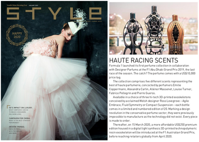 Style Magazine | Ferg & Friends Public Relations | F1 Fragrances