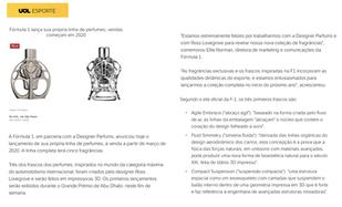 UOL | Ferg & Friends Public Relations | F1 Fragrances