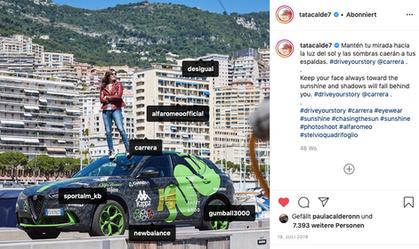 Shooting for Carrera Eyewear during the Gumball 3000 in Monte Carlo endorsing Sportalm Kitzbühel & Desigual