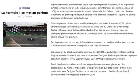 Relaxnews | Ferg & Friends Public Relations | F1 Fragrances