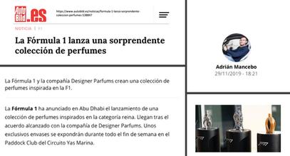 Autobild Spain | Ferg & Friends Public Relations | F1 Fragrances