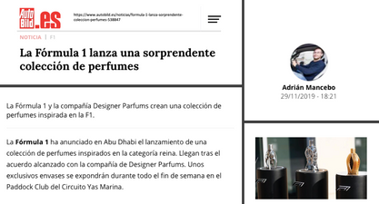Autobild Spain | Ferg & Friends Public Relations | F1 Fragrances