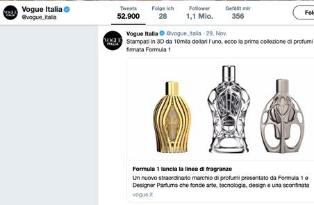 Vogue Twitter | Ferg & Friends Public Relations | F1 Fragrances