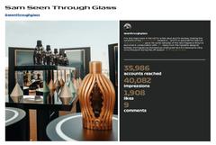 Influencer Seen Through Glass
