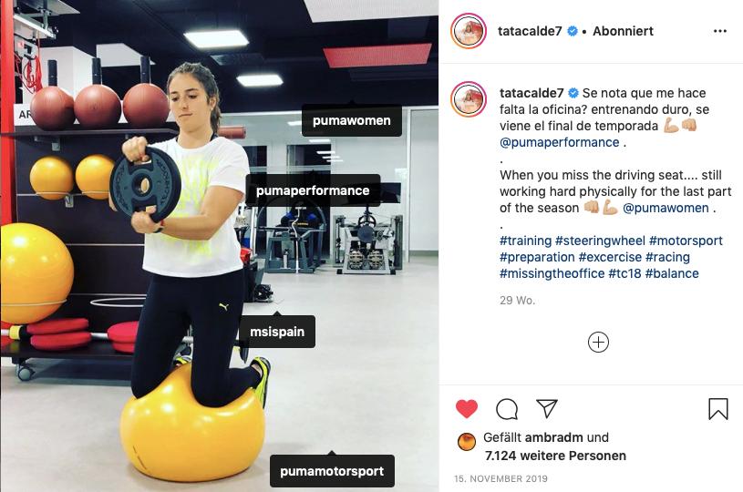 Tatiana Calderón endorsing Puma