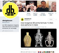 Design Boom Twitter | Ferg & Friends Public Relations | F1 Fragrances
