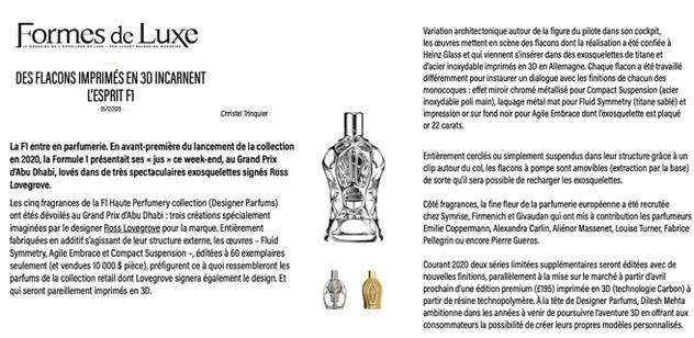 Formes de Luxe | Ferg & Friends Public Relations | F1 Fragrances