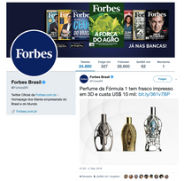 Forbes Twitter | Ferg & Friends Public Relations | F1 Fragrances