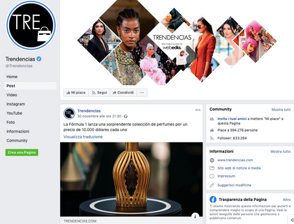 Trendencias Facebook | Ferg & Friends Public Relations | F1 Fragrances