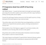 Reuters | Ferg & Friends Public Relations | F1 Fragrances