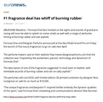 Euronews | Ferg & Friends Public Relations | F1 Fragrances
