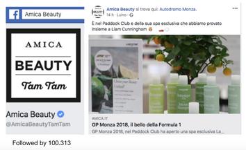 Amica Beauty Tam Tam Facebook