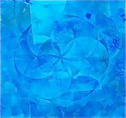Azure Flower of Life