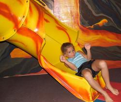 Ooozing down the Lava Tube Slide