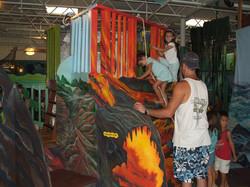 """Climbing """"Hot"""" Lava Wall"""