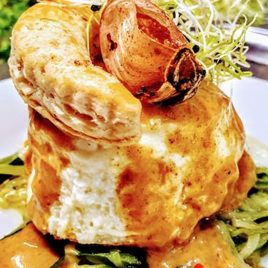 Savarin de noix de St Jacques, sauce homardine