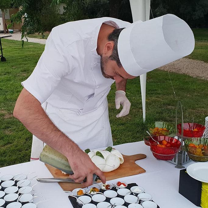 Atelier mozzarella tressé et tomates confites