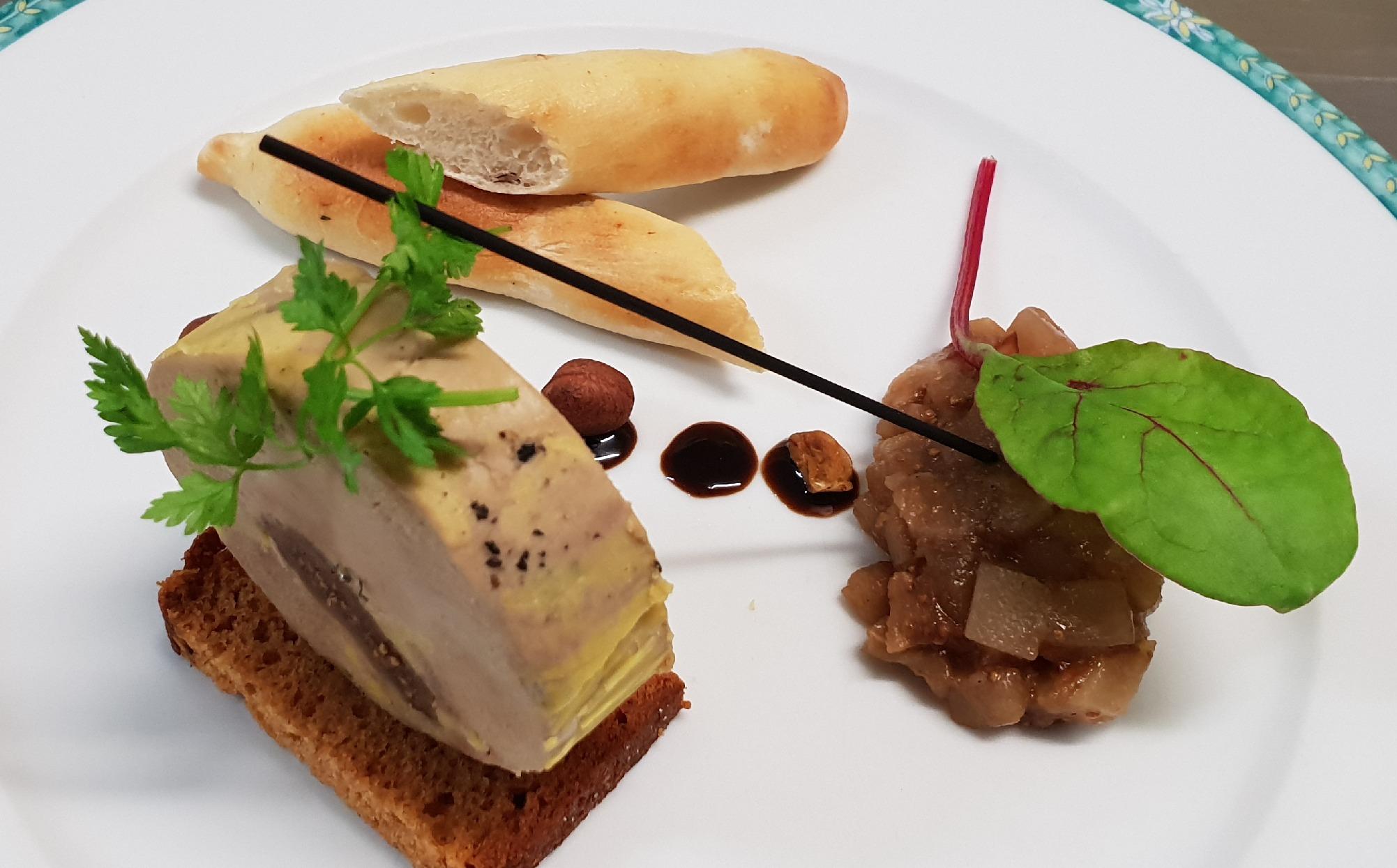 Foie gras de canard figues et miel