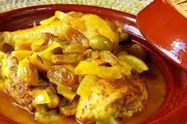Tajine de poulet au citrons confits 10 pers.