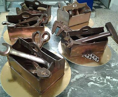 Caisse à outil en chocolat pour la fête de pères
