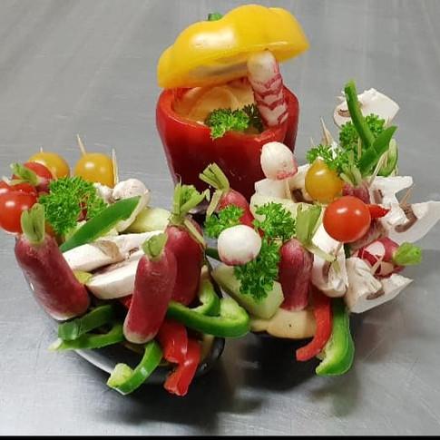 Panier de légumes croquant
