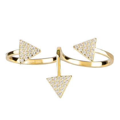 Tri Pyramid Double Ring