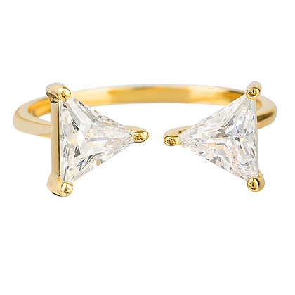 Open Front Crystal Ring