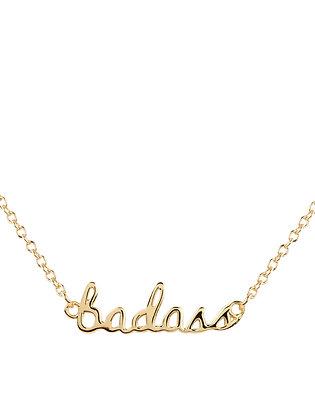 Badass Script Necklace