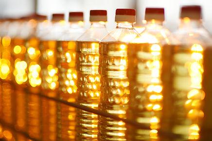 Sunflower oil production plant. Bottling
