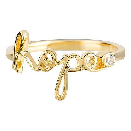 Hope Script Ring