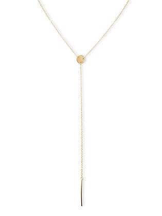 Disc Lariat Necklace
