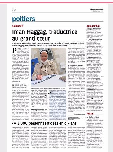 Article La Nouvelle Republique Poitiers.