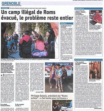 Article Le Dauphiné Libéré Juillet 2020