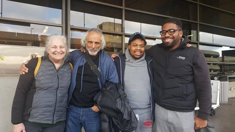 At SeaTac with Christ Love, Immanuel Baldwin, Robert Miano, D.L. Gardner