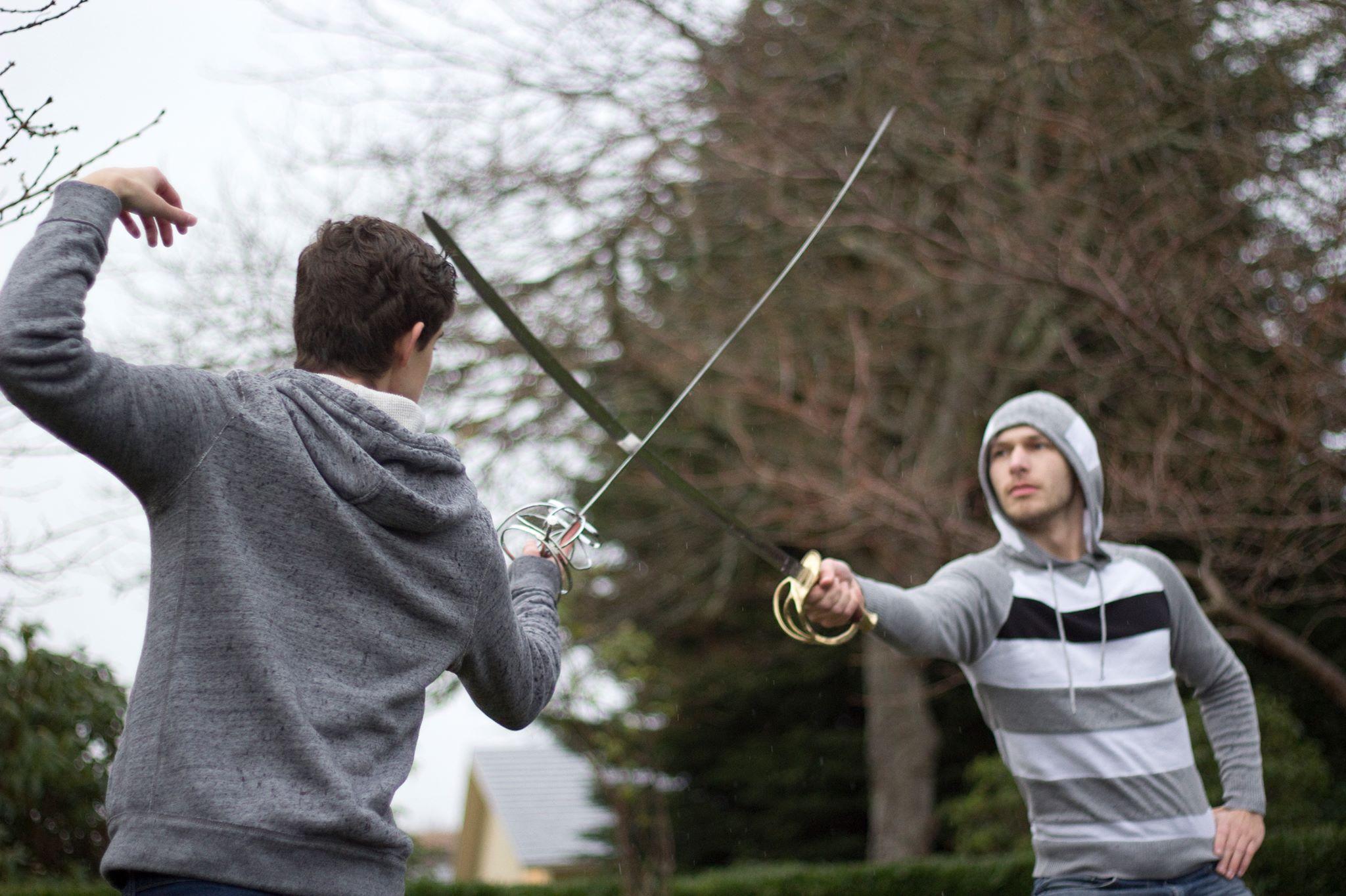 Sword practice at Manresa Castle