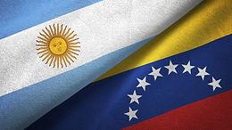 banderas de argentina y Vnezuela Juntas