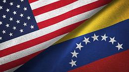 banderas de estados unidos y venezuela juntas