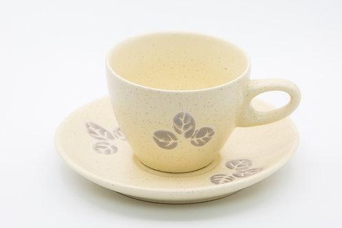 ספל קפה שמנת דגם פרח