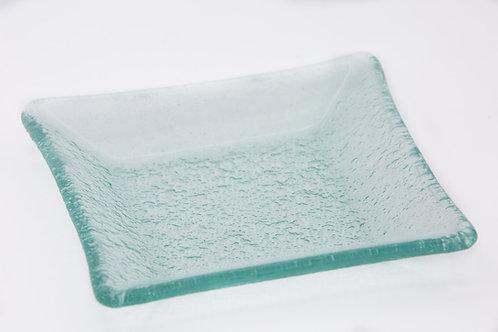 צלחת קינוח זכוכית גוון ירקרק