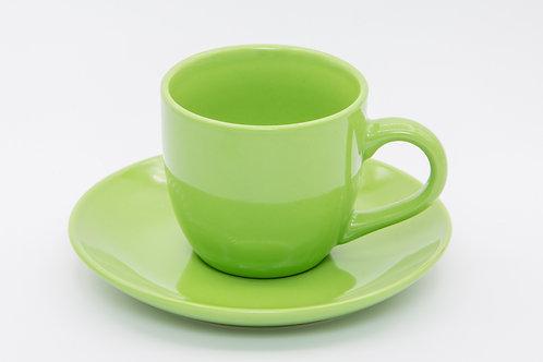 ספל קפה ירוק חלק