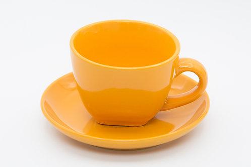 ספל קפה כתום חלק