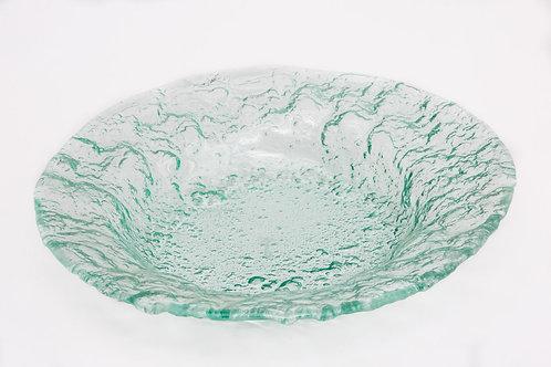 קערת זכוכית עמוקה עם דופן