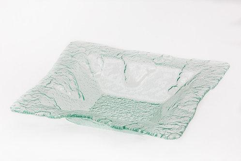 קערת זכוכית מרובעת עמוקה