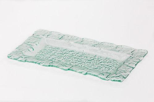 קערת זכוכית מלבנית שטוחה
