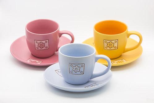 ספל קפה דגם פרח