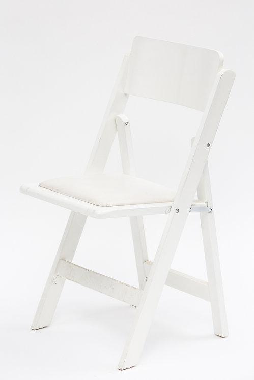 כיסא מתקפל מהודר לבן