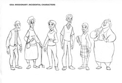 Character line up - GSAP